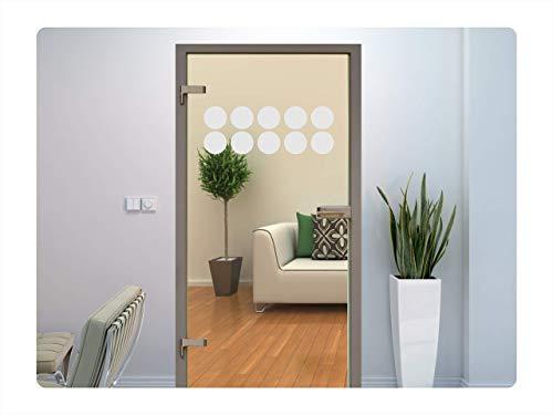 rs-interhandel® Glastür Aufkleber Tattoo Folie Glasdekor Fensterfolie Sichtschutz Wohnzimmer, Küche oder für alle Glasflächen Sichtschutzfolie für Türen GD11