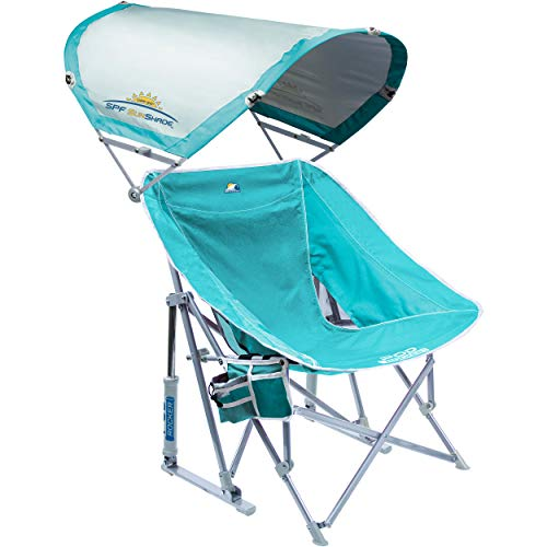 GCI Outdoor Waterside Pod Rocker Collapsible Rocking Chair with Sunshade