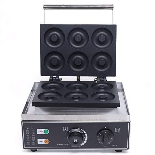 220V 1550W 6 Löcher Doppelseitige Antihaft-Gewerbeelektrik Donut Maker
