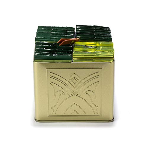 Pasticceria Passerini dal 1919 Charmes Gift Set - Assorted Herbal Teas in 32 Wrapped Cristal Teabags (56g / 1.97oz) and Display Box, Dammann Frères