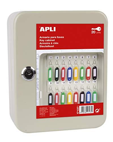 APLI- Armario porta llaves, Color crema, (17137)