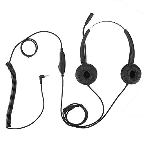 Headest with Mic, 2.5mm Call Center Headphone Ergonomic Design Stretchable Over Ear Headphone with Noise Reduction MIC