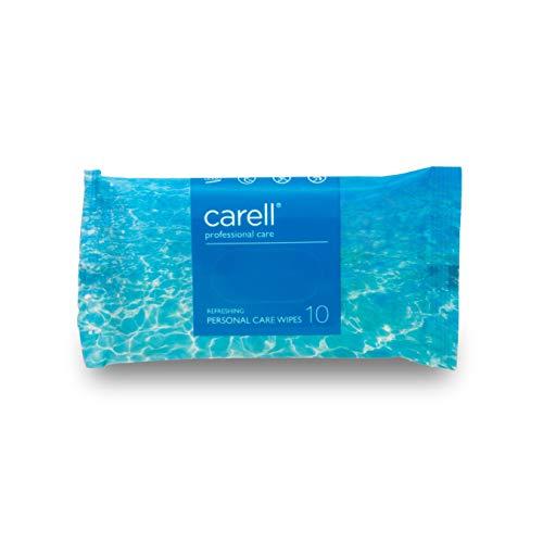 Carell Professional Care - verfrissende doekjes voor persoonlijke verzorging, 10 stuks doekjes - zacht, dermatologisch getest, alcoholvrij