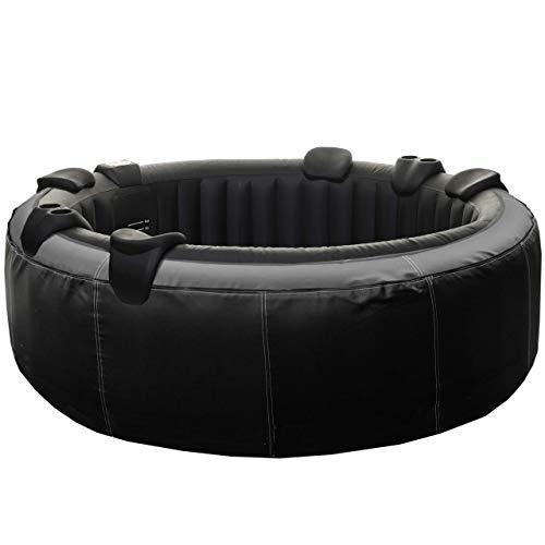 Mendler Whirlpool HWC-E32, 6 Personen In-/Outdoor heizbar aufblasbar Kunstleder Ø 208cm FI-Schalter + Zubehör