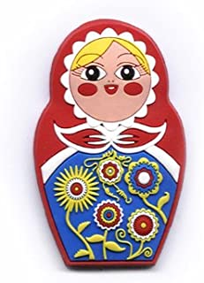 Babushkas Nesting Dolls are a Slavic Tradition That spans Several Countries. The Nesting Doll PVC Magnet with Bright Colors and Crisp Detail is All You'll find on This Flexible Magnet.