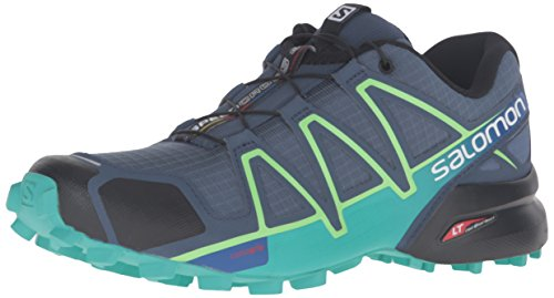 Salomon Women's Speedcross 4 W Trail Runner, quarry, 7.5 M US