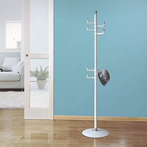 SDFGH Kapstok, vrijstaande kledingstandaard, metalen kledingrek, haak voor paraplu, hoed, opslag, slaapkamer, hal