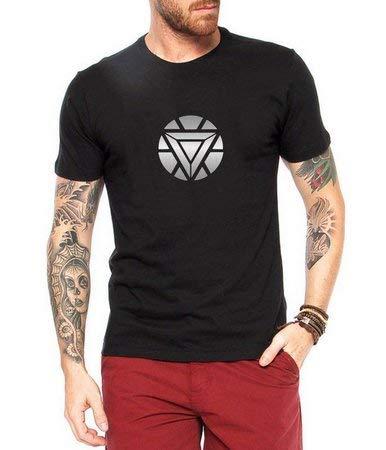 Camiseta Tony Stark Reator Arc Homem de Ferro Marvel Super Herói Vingadores Masculina Personalizadas/ Customizadas/ Estampadas/ Camiseteria/ Estamparia/ Estampar/ Personalizar/ Customizar/ Criar/ Camisa Blusas Baratas Modelos Legais Loja Online (G)