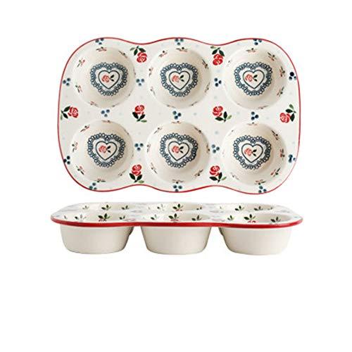 6-Keramik-Kuchenform, Shufulei-Eierkuchen-Backform, Backofen für Kirschofenbrot, 35 x 19,4 cm, Kirsche