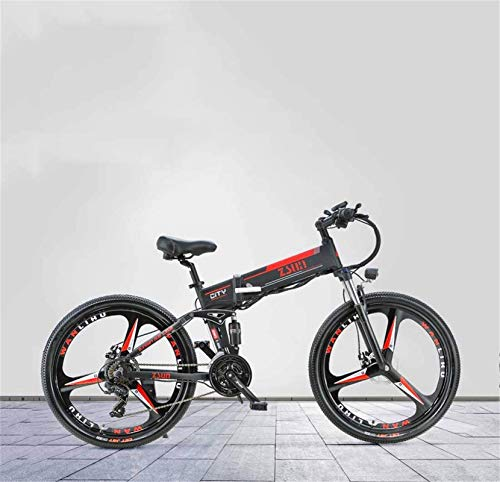 Bicicletas Eléctricas, Bici de montaña eléctrica plegable for adultos de 26 pulgadas, batería de litio 48V, con sistema de posicionamiento antirrobo GPS Bicicleta eléctrica, 21 velocidades ,Bicicleta