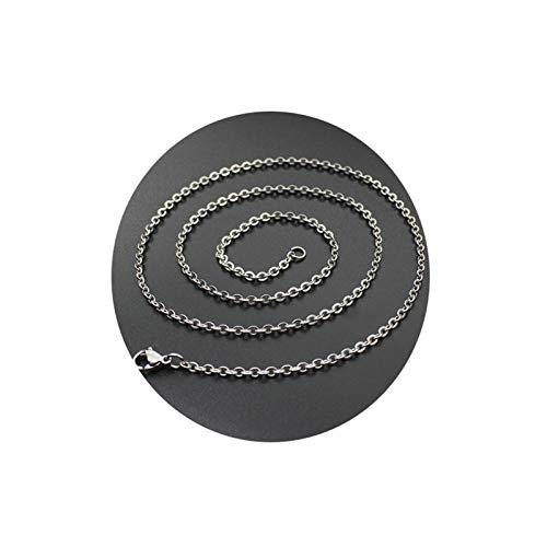 Aeici Collar Acero Inoxidable Mujer Cadena Cable Collares para Mujer Plata Largo 60Cm