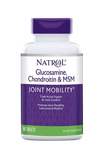 Natrol - Glucosamina Condroitina & MSM - 90 comprimidos