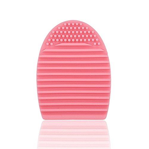 Frcolor Silicone maquillage pinceau oeuf brosse cosmétiques nettoyage outil Pack de 3(Pink) de lavage des œufs