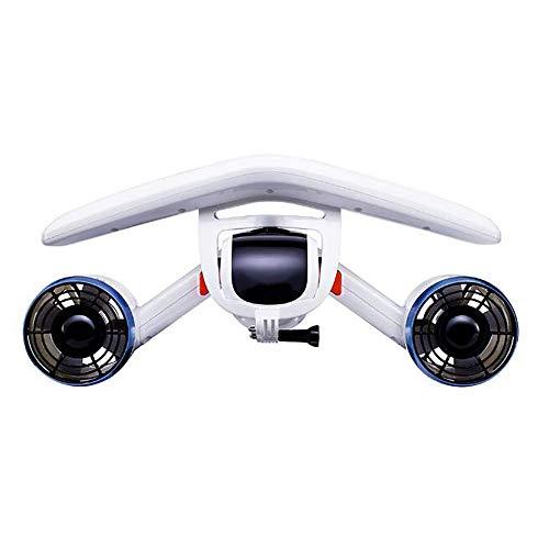 FXQIN Seascooters - Underwater Booster & Professional Dive Series, Automatisches Auftriebssystem, 40 Meter Tiefe & 30 Minuten Laufzeit (Weiß)