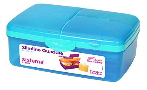 Sistema Slimline Quaddie Lunchbox, blau