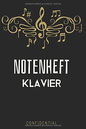 Klavier Tabulatur Block   Notizbuch, Notenheft, Kompositionsbuch Für Musiker Zum Selber Schreiben (21,59 x 27,94cm; 120 Seiten)