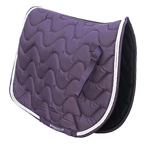 Rhinegold Tapis de Selle rembourré pour Cheval ou Poney, Motifs Vagues, Superbes Couleurs, Toutes Tailles S Violet
