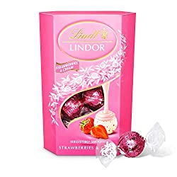 Lindt Lindor Strawberries and Cream Choco-late Truffles