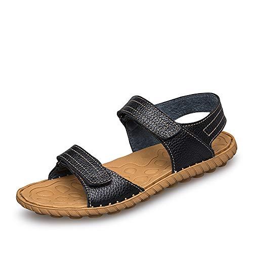 Kfhfhsdgsamlx Sandalias de Moda para Hombre Sin Esfuerzo Simple Peso Ligero Gancho con comodía y Zapatos de Agua Loopoutdoor (Color : Black, Size : 39 EU)