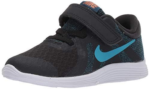 Nike Jungen Revolution 4 (TDV) Gymnastikschuhe, Schwarz (Off Noir/Lt Current Blue/Blue Force/Metallic Copper 016), 25 EU