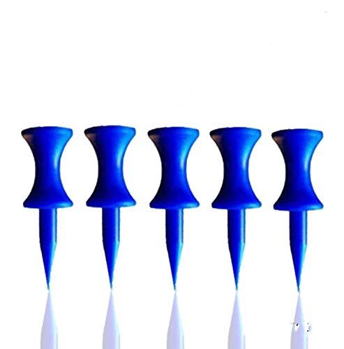FINGER TEN Golf Castle Tees 60 Pezzi, Step Down Tee da Golf in Plastica Professionale Tee Altezza Controllo,2 3/4, 2 1/4, 2, 1 3/4, 1 1/2, 1 1/4 inch/Pollice (Blu)