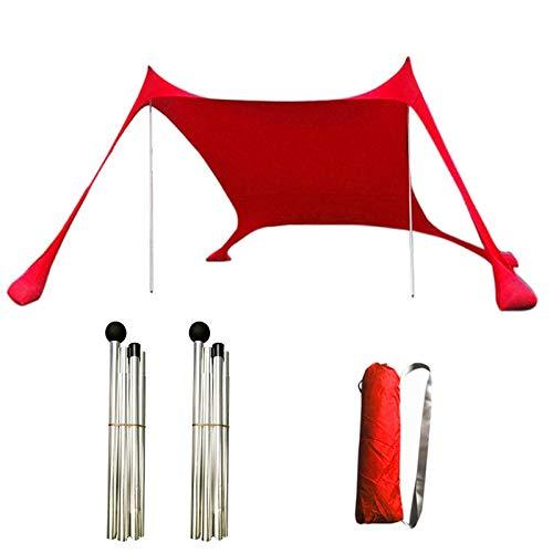 XXYWJF Nuevo Toldo Sun Shelter Beach al Aire Libre Camping Garden Sun Toldo Tabla Sombrilla Hamaca Lluvia Fly Tarp Tienda Impermeable Tienda Sombra Tiendas de campaña (Color : Rojo)
