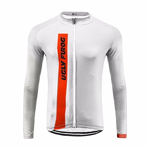 Uglyfrog #29 Neue Männer Radfahren Langarm Radfahren Jersey Winter with Fleece eine Menge Farben Antislip Ärmel Cuff Road Bike MTB Top Riding Jacken