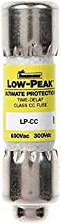 Bussmann LP-CC-10 10 Amp Low-Peak Time Delay Current Limiting Class CC Rejection Cartridge Fuse, 600V UL Listed by Bussmann