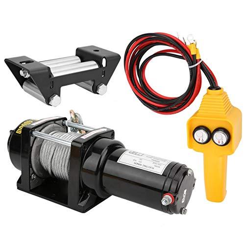 Cabrestante eléctrico de 12V 4000lb Accesorio todoterreno Cabrestante impermeable Accesorio mecánico para SUV para coche