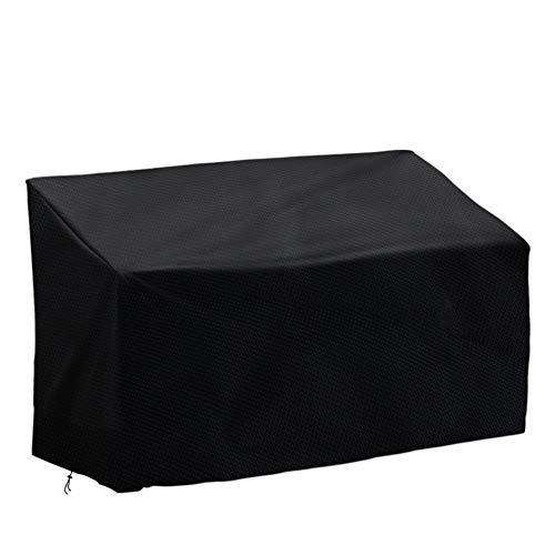 Vzesok Housse de Protection pour Banc 2 Places Couverture Imperméable avec Accoudoires Droits 420D Oxford Polyester Noir