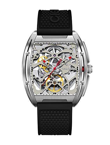 Relojs Hombres Automático Esqueleto Mecánico Analógico...