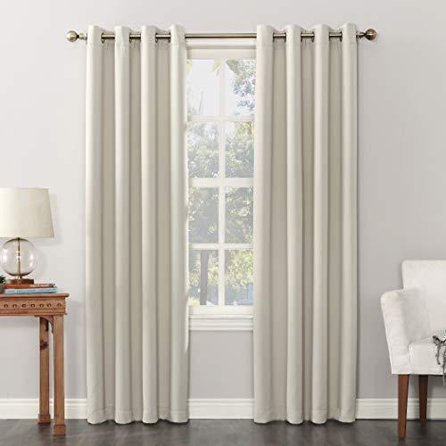 "Sun Zero Easton Blackout Energy Efficient Grommet Curtain Panel, 54"" x 84"", Pearl Off-White"