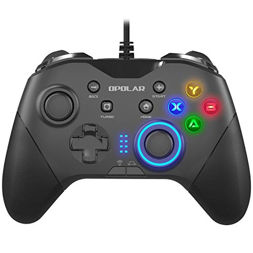 OPOLAR Wired Gaming Controller, Programmable PC Gamepad Joystick with Dual Vibration, Remap M1-M4 Triggers, Game Console for Windows 7/8/10/XP/Laptop,...