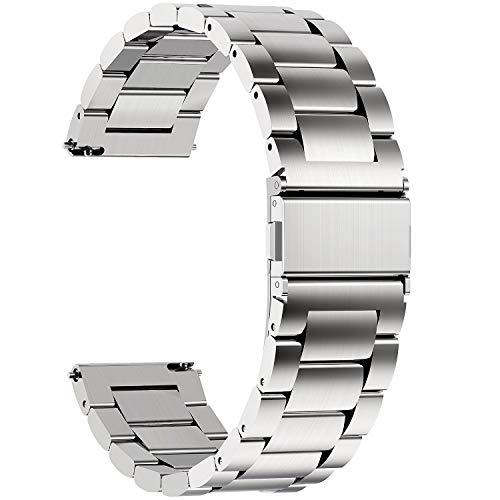 JIAOXIAOHUI Cinturino per Orologio Intelligente 16mm 18mm 19mm 20mm 22mm 24mm, Cinghie di Metallo per Uomo da Uomo, Compatbile per Samsung, Casio, Huawei, Orologio Intelligente Cinturino per Orologio