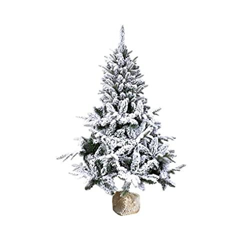 Hainice 1 szt. mini choinka szynka biurko dekoracja choinka z flokowanym śniegiem sztuczna sosna ozdoba świąteczna idealna na stół i blat biurka (40 cm)