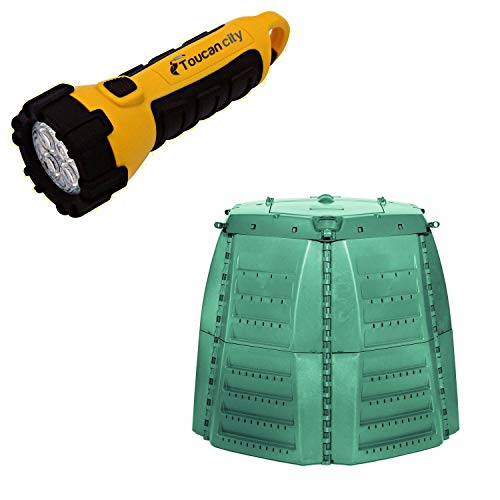 New Toucan City LED Flashlight and Graf Thermo-Star 267 gal. Compost Bin Therm Star 1000