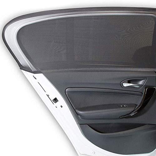 BESLIME Sonnenschutz Auto (2 Stück), Sonnenschutz Auto Baby/Kinder Doppelseitiges UV Schutz Autofenster Sonnenschutz, Reduziert Wärme und UV-Strahlung,für 90% der Autos (50 * 115cm)