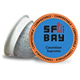 SF Bay Coffee Colombian Supremo 120 Ct Medium Roast Compostable Coffee Pods, K Cup Compatible including Keurig 2.0