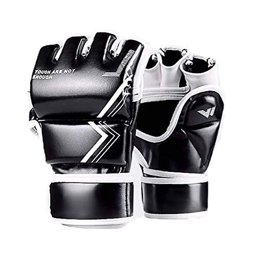 Bokshandschoenen bokshandschoenenponsen Bokszak Mitts UFC MMA Muay Thai Sparring Kickboxing Handschoenen for Kickboxing Sparring (Kleur: Blauw, Maat: M) Bokshandschoenen en tas,leilims