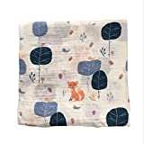 120x120cm Manta de muselina para bebé manta para bebé Algodón 100% Recién nacido Toalla de baño para bebé Mantas Swaddle Multi Diseños Funciones - multicolor