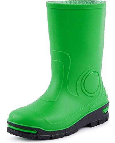 Ladeheid Kinder Mädchen Jungen Gummistiefel Regenschuhe Regenschuhe (Grün, 33 34 EU)