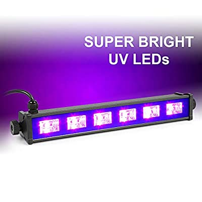 beamz BUV63 UV Bar Black Light Ultraviolet Strip Lighting DJ Disco Party 36cm