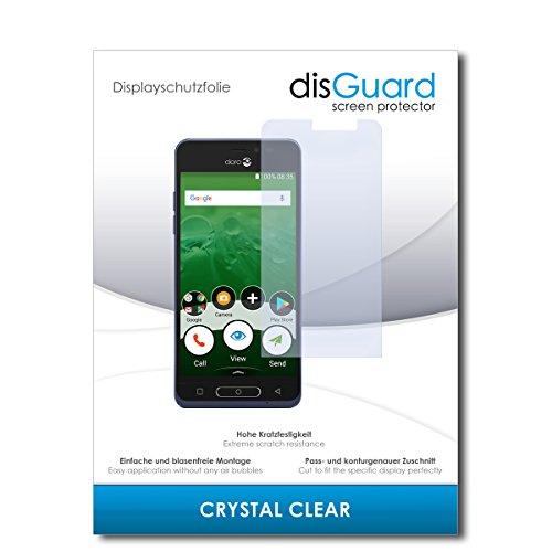 disGuard® Bildschirmschutzfolie [Crystal Clear] kompatibel mit Doro 8035 [2 Stück] Kristallklar, Transparent, Unsichtbar, Extrem Kratzfest, Anti-Fingerabdruck - Panzerglas Folie, Schutzfolie