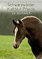 Schwarzwaelder Kaltblut Pferde im Portrait (Tischkalender 2022 DIN A5 hoch): Ganz nah begleitet Sie das Schwarzwaelder Kaltblut Pferd durch das Jahr (Monatskalender, 14 Seiten )