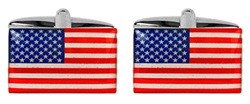 Boutons de manchette fantaisie drapeau des États-Unis