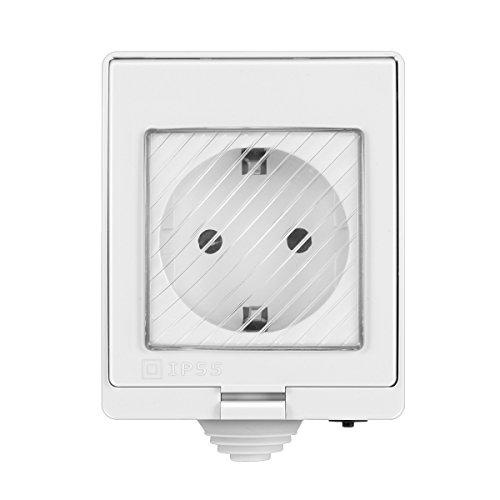 TopHGC Presa Smart Plug WiFi Impermeabile, Resistente IP55 Impermeabile 10A per esterno Compatibile con Smart Home e IFTTT, Presa senza fili Smart Timer Interruttore Telecomando