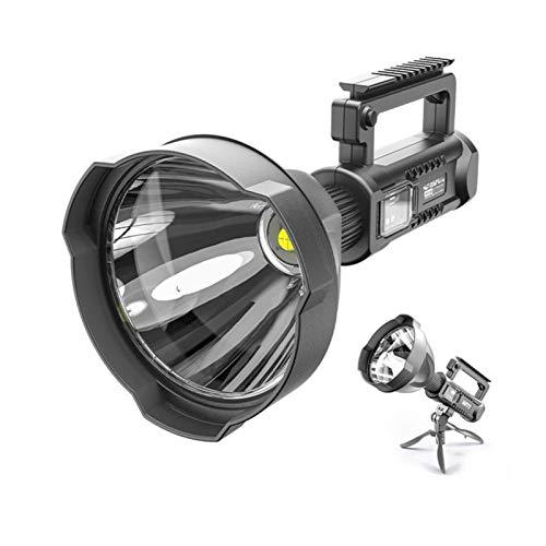 YSVSPRF searchlight Focos portátil LED Linterna Reflector Grano de la lámpara for Montar en el Soporte USB Chargable for la expedición Aventura Campamento (Emitting Color : L)