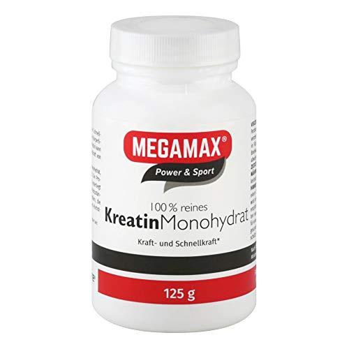 KREATIN MONOHYDRAT 100% Megamax Pulver 125 g   CREAPURE ® CREATIN - rein - höchste Dosierung - Ultrafeines Kreatin für Steigerung von Kraft Energie   Ausdauerleistung Bodybuilder Sportler