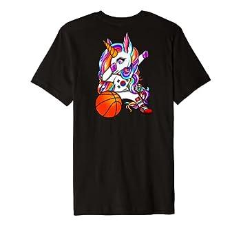 Dab Unicorn South Korea Basketball Fans Jersey Korean Flag Premium T-Shirt