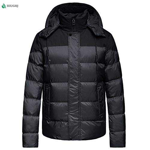 HIUGHJ Wind Breaker Skijacken, Herren Sportswear, Herren Fashion Dünne Windbreaker Jacke Reißverschluss Mäntel Hip Hop Schwarz Grau M-2XL, Schwarz, XXL